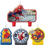 Spider-Man Webbed Wonder Birthday Candles, 4-pc | Spidermannull