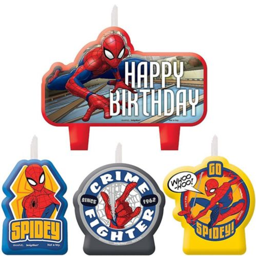 Spider-Man Webbed Wonder Birthday Candles, 4-pc Product image