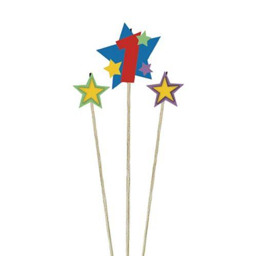 Star Birthday Toothpick Candle Set, 3-pc