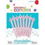 Star Spiral Birthday Candles, 8-pk | Amscannull