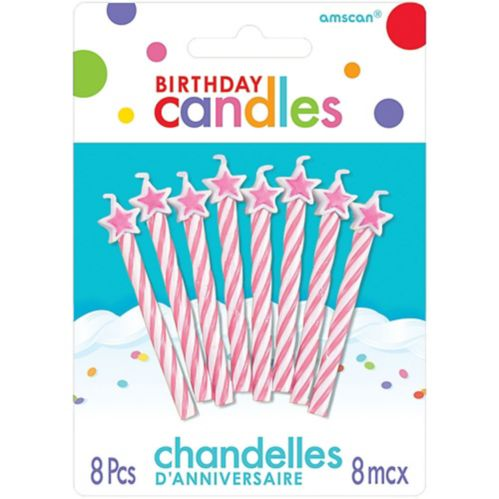 Star Spiral Birthday Candles, 8-pk Product image
