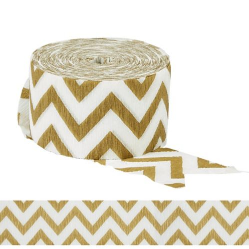 Gold Chevron Streamer