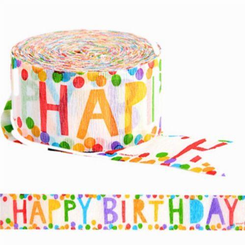 Serpentin coloré Happy Birthday