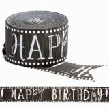 Happy Birthday Streamer, Chalkboard Dots