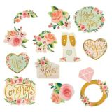 Mint Floral Wedding Cutouts, 12-ct