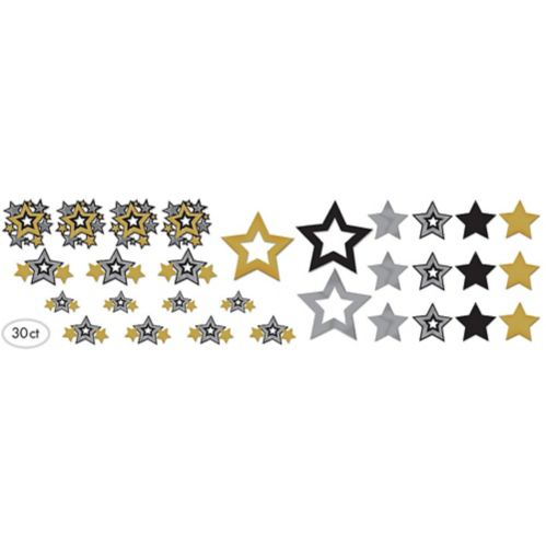 Hollywood Star Cutouts, 30-ct