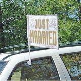 Drapeau de voiture Just Married