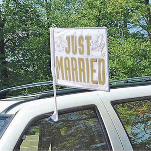 Drapeau de voiture Just Married Image de l'article