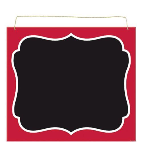 Affiche tableau noir parchemin pour pique-nique, rouge