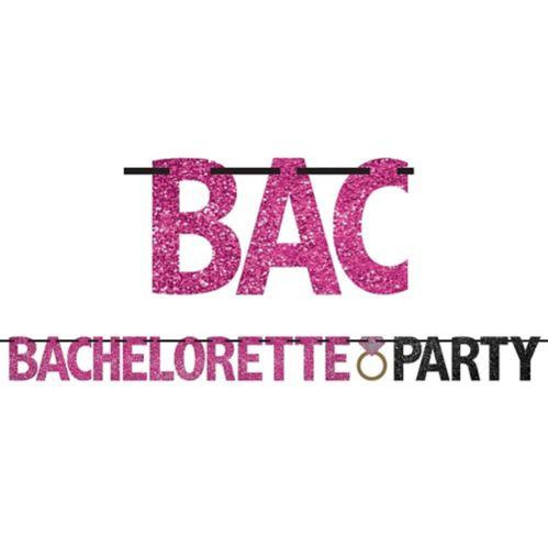 Glitter Bachelorette Party Letter Banner Product image