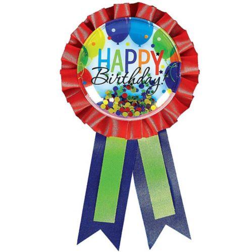 Rainbow Balloon Bash Birthday Award Ribbon