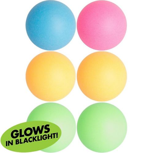 Black Light Neon Pong Balls, 6-pk