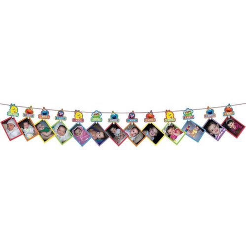 1st Birthday Elmo Photo Garland