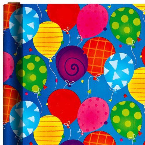 Papier d'emballage ballons géants aux couleurs vives
