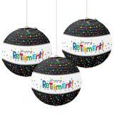 Lanternes en papier Célébration Bonne retraite, paq. 3