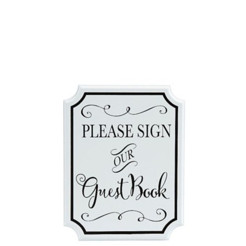 Wedding Guest Book Sign, White