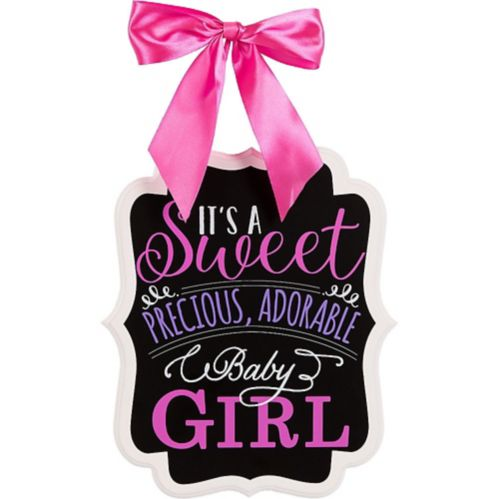 Baby Girl Baby Shower Chalkboard Sign Product image