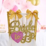 Glitter Bride-to-Be Chair Sign