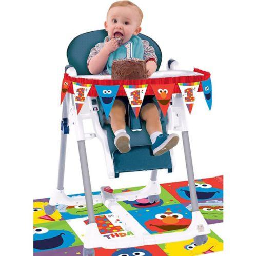 Sesame Street Elmo 1st Birthday High Chair Decorating Kit, 2-pc Product image