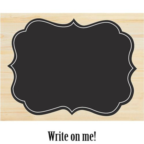 Large Chalkboard Wood Easel Sign Product image