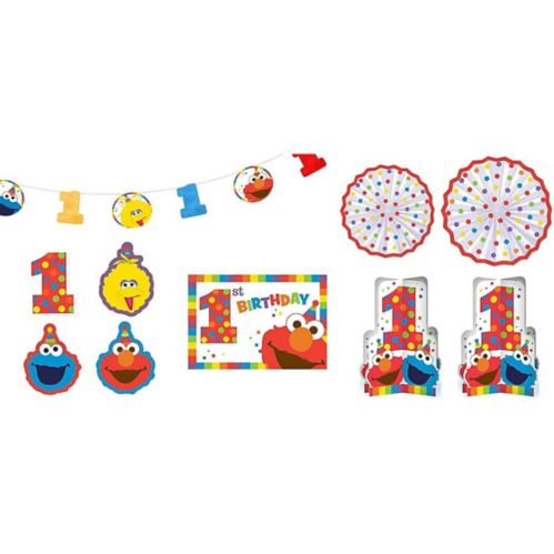 Sesame Street Elmo 1st Birthday Room Decorating Kit, 10-pc Product image