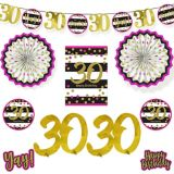 Pink & Gold 30th Birthday Room Decorating Kit, 10-pc | Amscannull