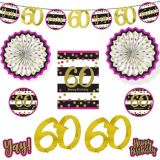 Pink & Gold 60th Birthday Room Decorating Kit, 10-pc | Amscannull