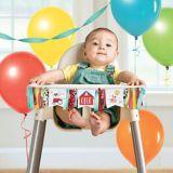 Banderole à fanions pour chaise d'enfant, ferme sympathique