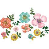 Découpes florales vives, paq. 20