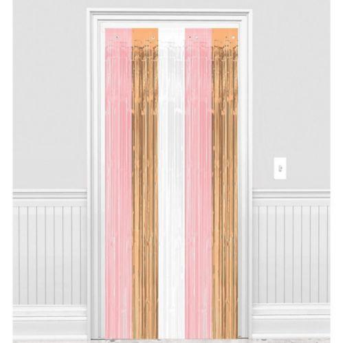 Metallic Rose Gold & Pink Fringe Doorway Curtain Product image