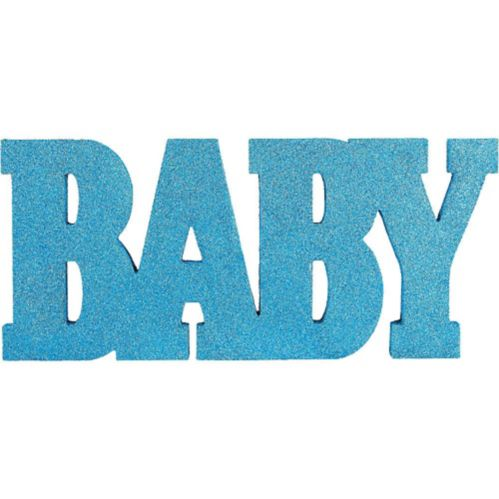 Glitter Blue Baby Stand Sign