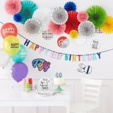 Here's to 40 Birthday Room Decorating Kit, 12-pc