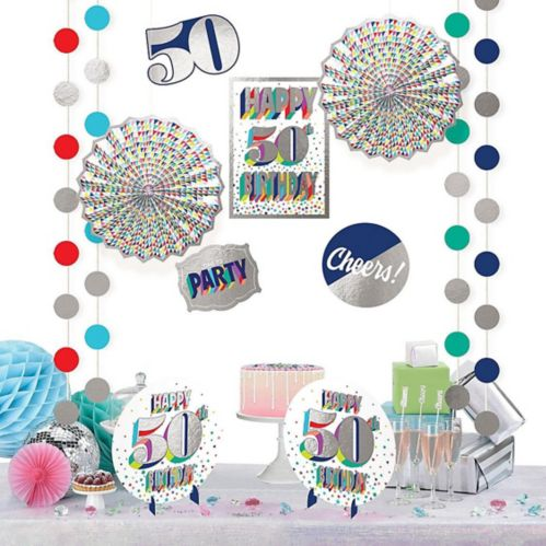 Here's to 50 Birthday Room Decorating Kit, 12-pc
