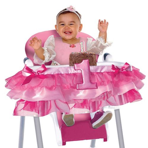 Deluxe Pink 1st Birthday High Chair Tutu Product image