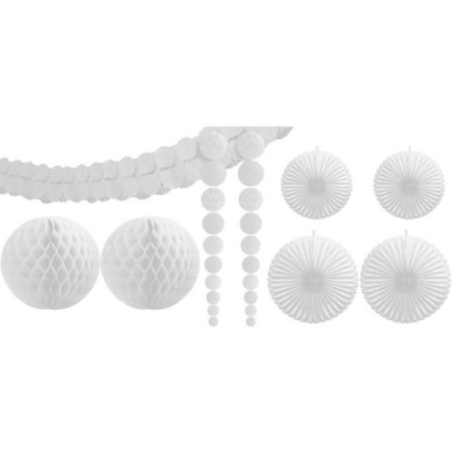 White Party Decorating Kit, 9-pc Product image