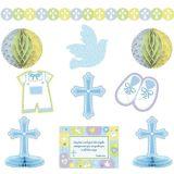 Blue Sweet Religious Room Decorating Kit, 10-pc