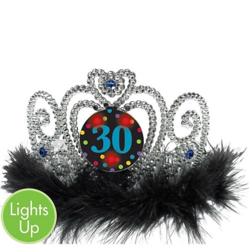 Light-Up 30th Birthday Tiara