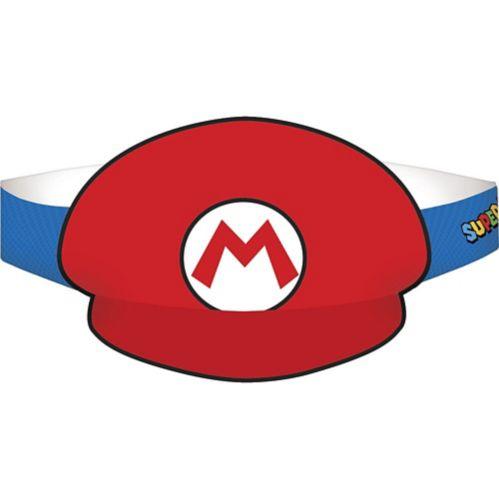 Chapeaux de fête Mario et Luigi, Super Mario, paq. 8