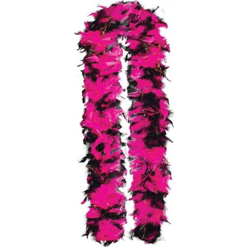 Feather Boa, Pink/Black