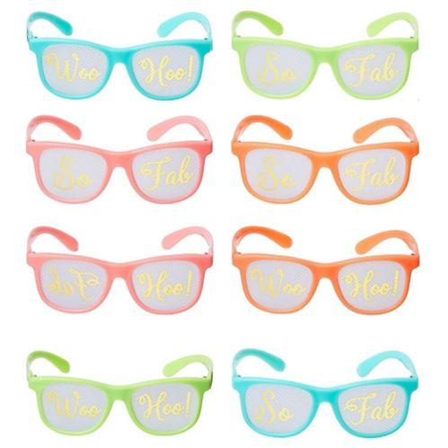 Confetti Fun Printed Glasses, 8-pk