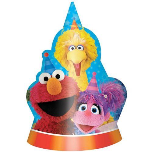 Chapeaux de fête Sesame Street, paq. 8