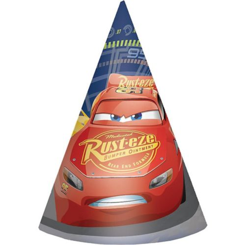 Cars 3 Party Hats, 8-pk