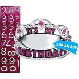 Personalized Pink Birthday Tiara Kit