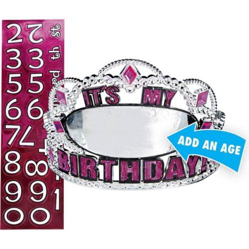 Diadème rose d'anniversaire personnalisable Image de l'article