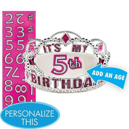 Child Personalized Happy Birthday Tiara Kit