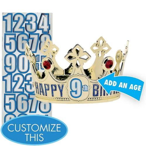 Child Personalized Gold Happy Birthday Crown Kit Product image