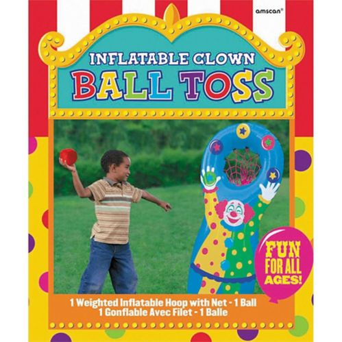 Jeu de lancer de balle clown gonflable Image de l'article
