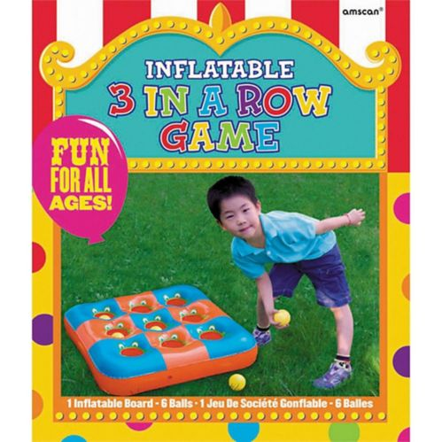 Inflatable 3-in-a Row Ball Toss Game