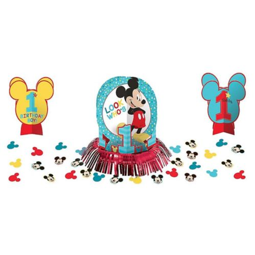 1st Birthday Mickey Mouse Table Decorating Kit, 23-pc