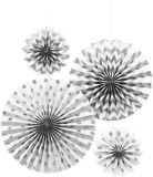 Polka Dot & Chevron Paper Fan Decorations, 4-pk
